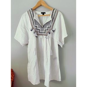 J crew tunic with embroidery. Size xs